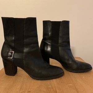 Cole Haan Black Leather Callan Chelsea Boots
